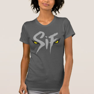 T-shirt Sif, la grande typographie de loup gris