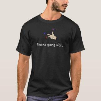 T-shirt Signe de bande de physique de produit croisé de
