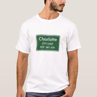 T-shirt Signe de limite de ville de Charlotte la Caroline