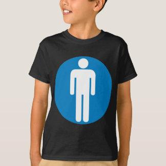 T-shirt Signe de route des toilettes des hommes