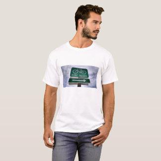T-shirt Signe d'itinéraire de vélo de la Californie