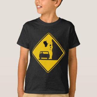T-shirt Signe en baisse de route de zone de moutons