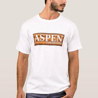 T-shirt Signe en bois de rondin d'Aspen le Colorado