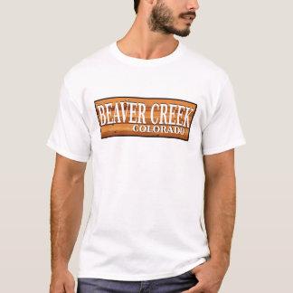 T-shirt Signe en bois de rondin du Colorado de Beaver