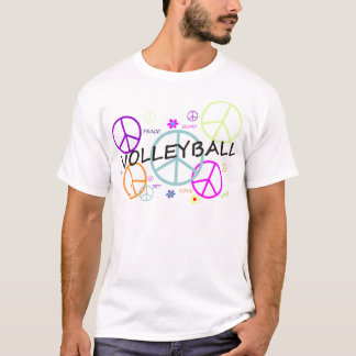 T-shirt Signes de paix colorés par volleyball