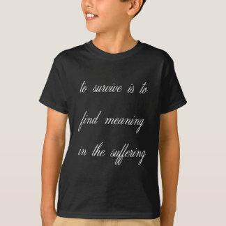 T-shirt Signification de découverte