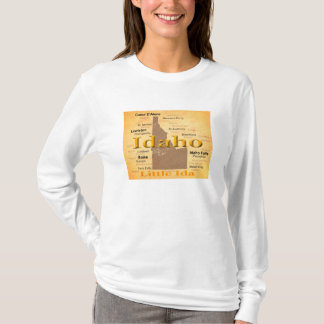 T-shirt Silhouette âgée de carte de fierté d'état de