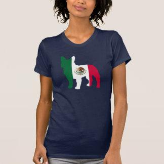 T-shirt Silhouette de bouledogue français de drapeau