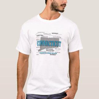 T-shirt Silhouette de carte de fierté d'état du