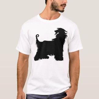 T-shirt Silhouette de lévrier afghan