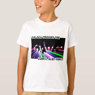 T-shirt Silhouette de Lightshow de club de foule