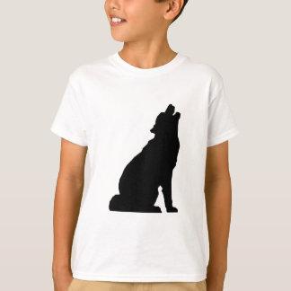 T-shirt Silhouette de loup d'hurlement