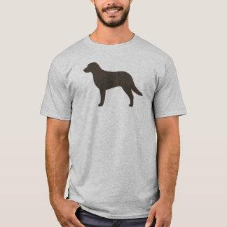 T-shirt Silhouette de Retriever de la Baie de Chesapeake