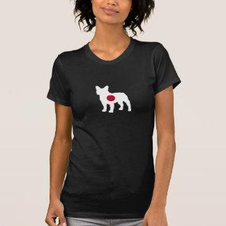 T-shirt Silhouette japonaise de bouledogue français de