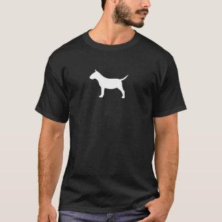 T-shirt Silhouette miniature de bull-terrier
