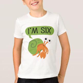 T-shirt Sixième bernard l'ermite d'anniversaire