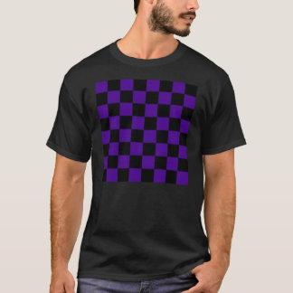 T-shirt sleve court checkered