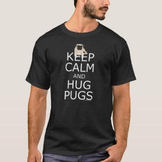 T-shirt Slogan d'amants de carlin : Gardez les carlins