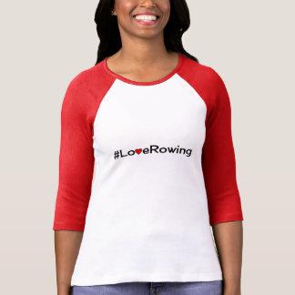 T-shirt Slogan d'aviron d'amour de Hashtag