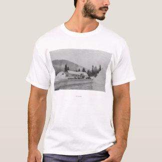 T-shirt Snoqualmie, WA - photographie de région de ski
