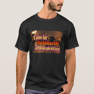 T-shirt Solidarité avec la Grèce