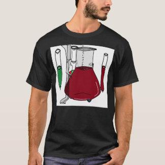 T-shirt Solutions 3 de tubes à essai de bechers de chimie