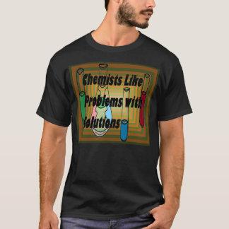 T-shirt Solutions 8 de tubes à essai de bechers de chimie