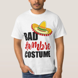 T-shirt Sombrero coloré de mauvais costume de Hombre