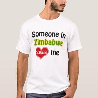 T-shirt Someone au Zimbabwe loves me