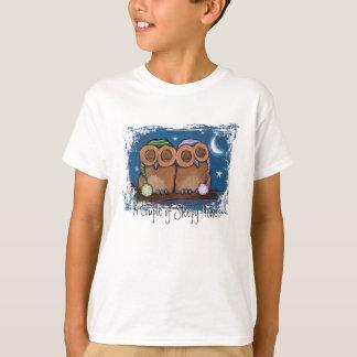 T-shirt somnolent mignon de hiboux