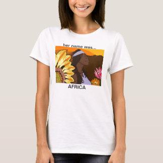 T-shirt son nom était… l'AFRIQUE