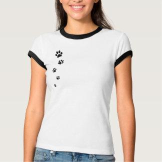 T-shirt Sonnerie de dames d'empreinte de patte