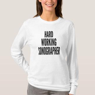 T-shirt Sonographer fonctionnant dur