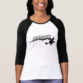 T-shirt Sorcière de Halloween sur une chemise de balai
