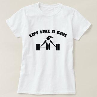 T-shirt Soulevez comme une fille - noir
