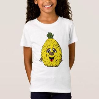 T-Shirt Sourire fatigué par bande dessinée jaune d'ananas