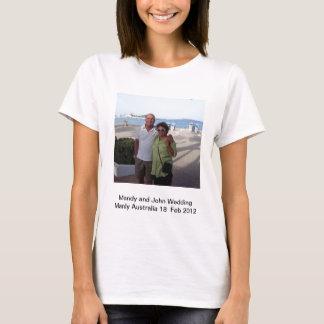 T-shirt Souvenirs de Mandy et de John Weddding