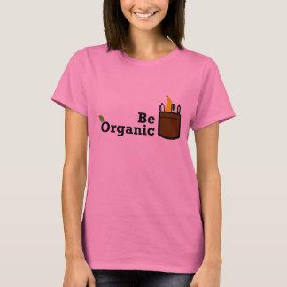 T-shirt Soyez banane organique dans la chemise de femme de