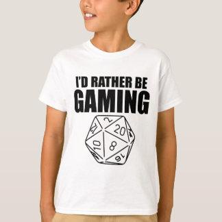T-shirt Soyez plutôt le jeu (D20)