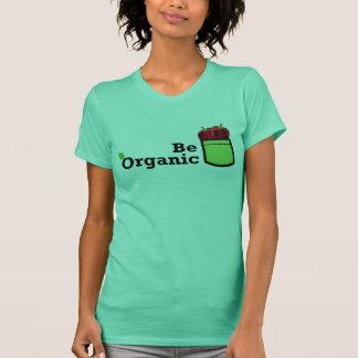 T-shirt Soyez tomate organique dans la chemise de femme de