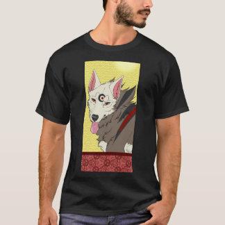 T-shirt Spencer sur la chemise noire