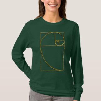 T-shirt Spirale sacrée de Fibonacci de rapport d'or