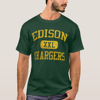 T-shirt sportif de chargeurs d'Edison - vert