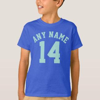 T-shirt Sports Jersey des enfants | de bleu royal et
