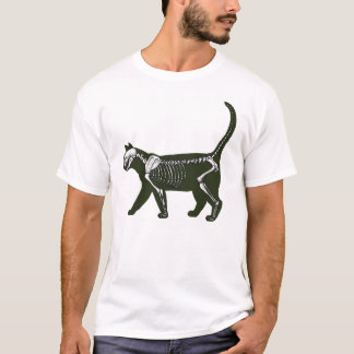 T-shirt Squelette de chat