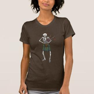 T-shirt Squelette de joueur de cornemuse