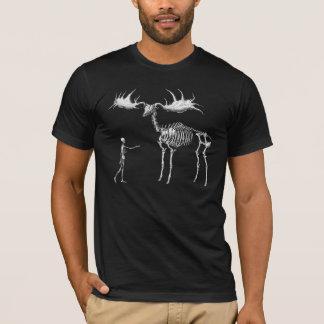 T-shirt Squelette géant w/Man d'élans