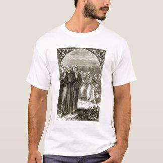 T-shirt St Columba chantant, et attaqué par les druides,