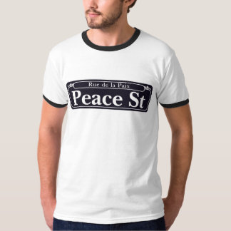T-shirt St de paix, plaque de rue de la Nouvelle-Orléans