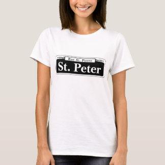 T-shirt St de St Peter, plaque de rue de la